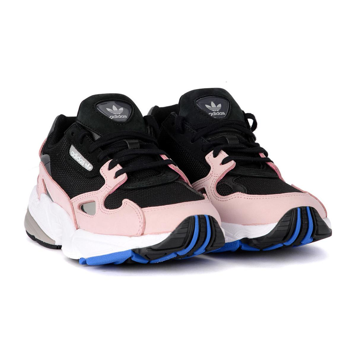 timeless design a7a4d cb37c adidas Sneaker Falcon In Mesh Nero E Suede Rosa Women s Shoes ...
