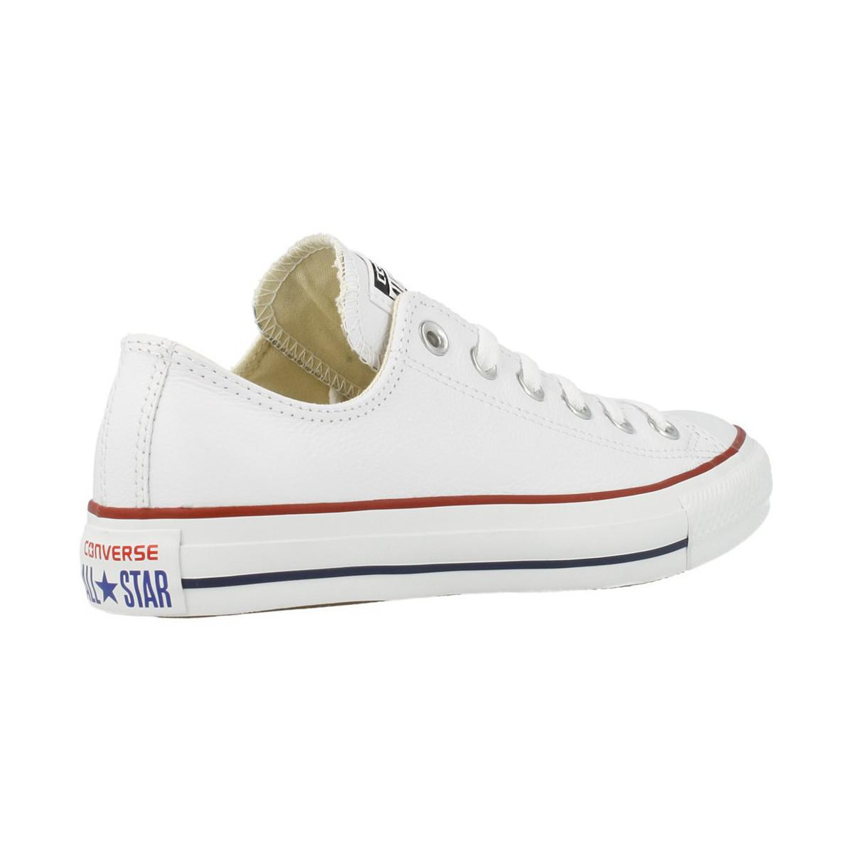 Converse Canvas Men's Chuck Taylor Alll Star Lean Ox Trainers in White for Men