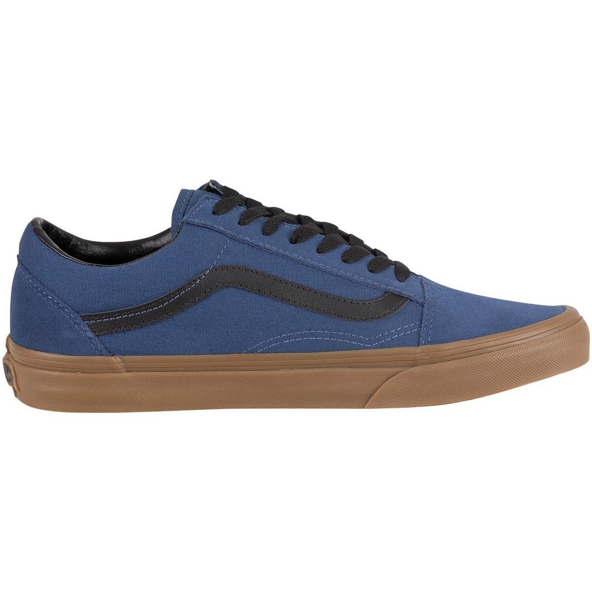 Vans Men's Old Skool Gum Outsole Trainers, Blue Men's Shoes (trainers) In Blue for Men