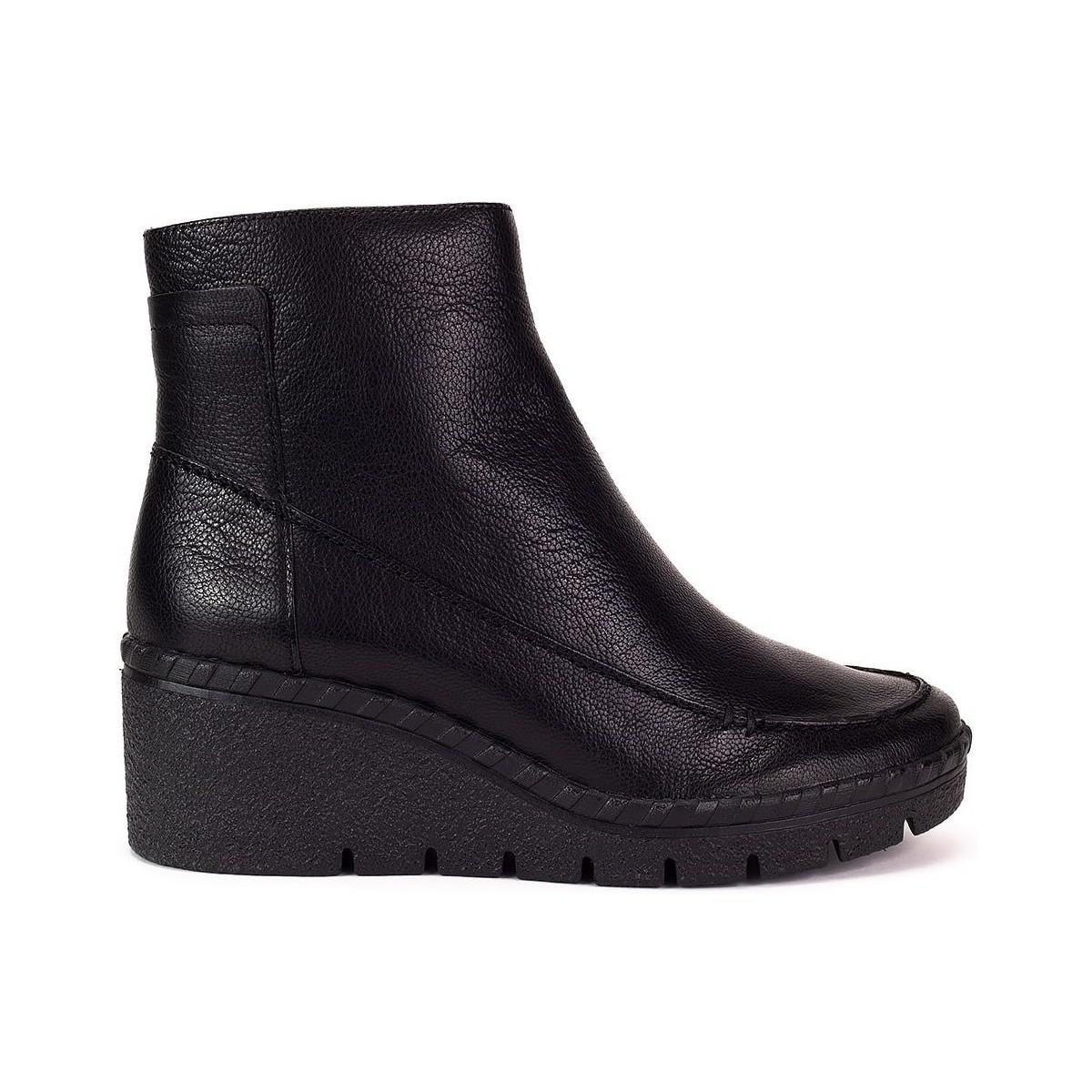 52f000bdd99 Geox Wiva Wedge Women's Low Ankle Boots In Black