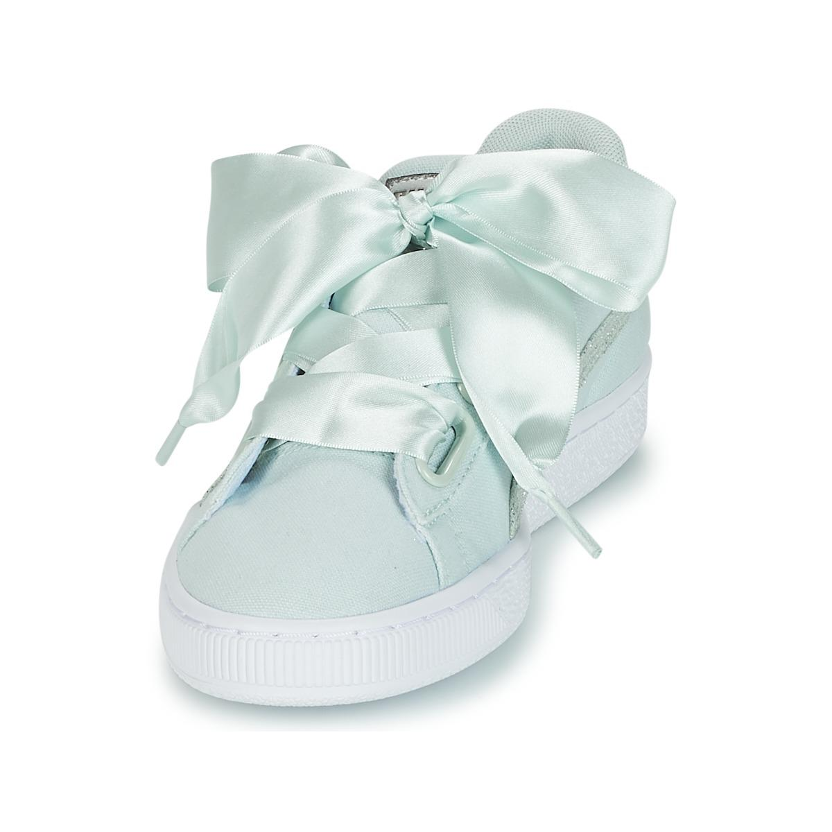 meet c2031 f0422 PUMA Basket Heart Canvas W's Shoes (trainers) in Green - Lyst