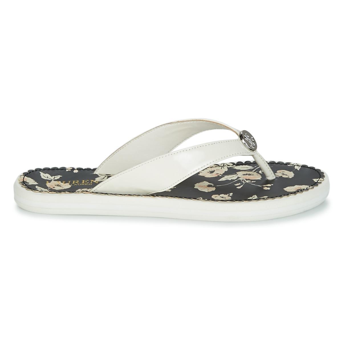 42651f13ca6d Lauren by Ralph Lauren Raia Flip Flops   Sandals (shoes) in White - Lyst