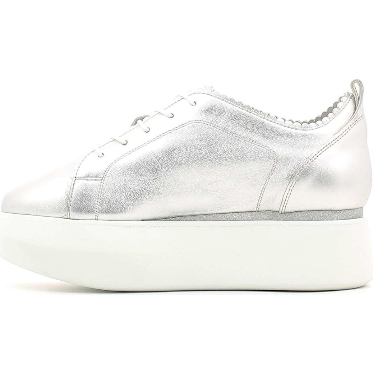 Alberto Guardiani Sd56451a Shoes With Laces Women Silver Women's Shoes (trainers) In Silver in Metallic
