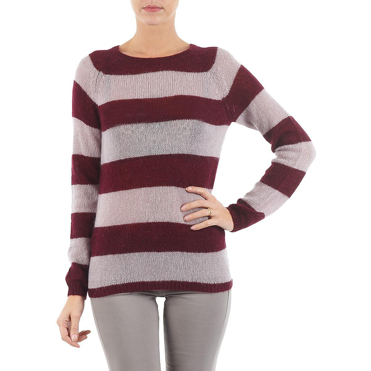 b6fda7b802 Gant C. Mohair Blockstripe Crewneck Women s Sweater In Red in Red - Lyst