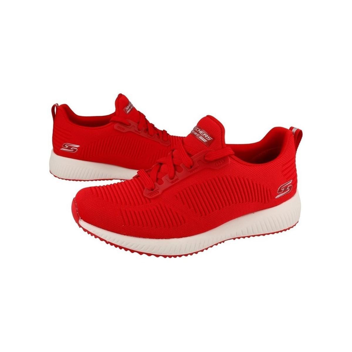 womens red skechers