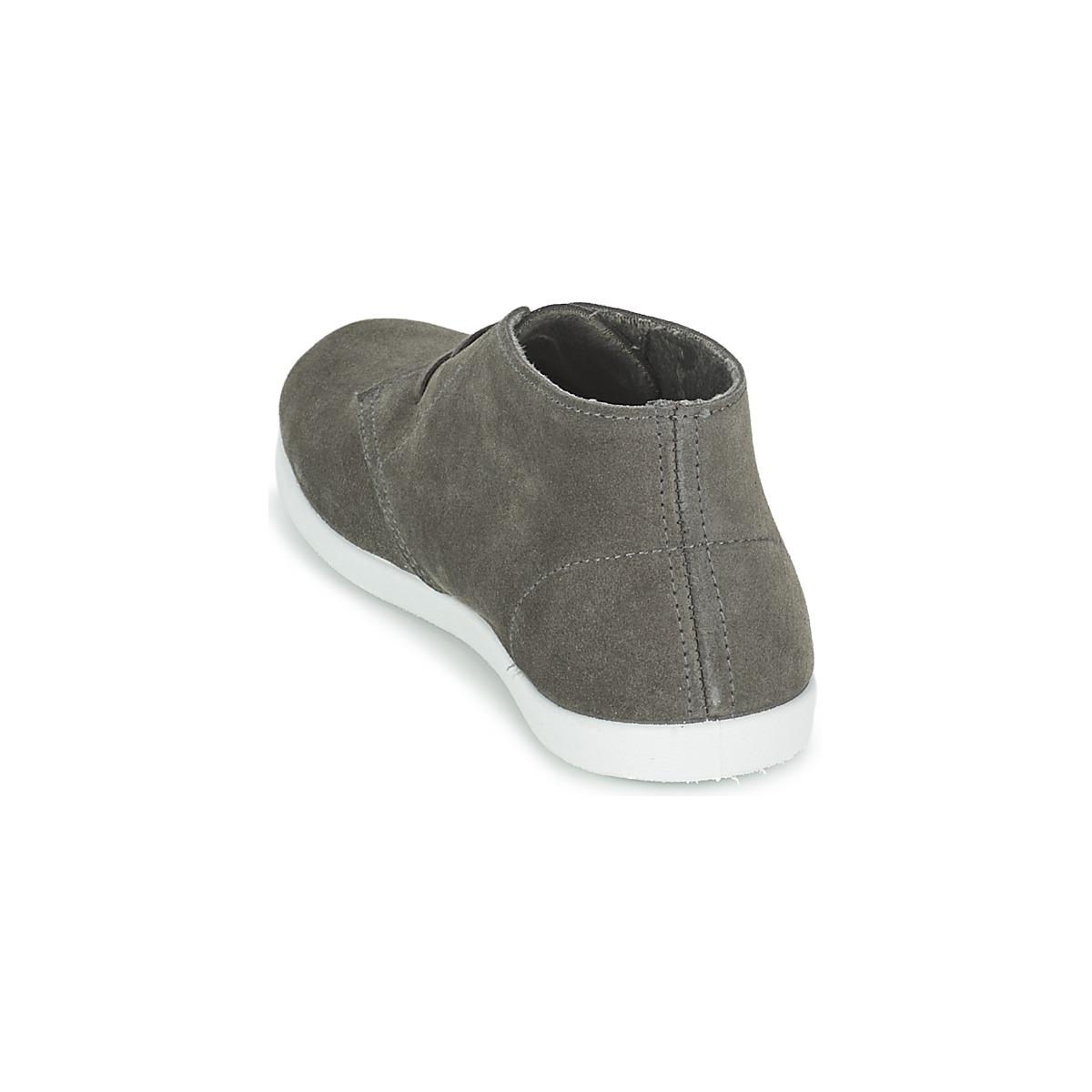 Yurban Leather Pertu Women's Shoes (high-top Trainers) In Grey in Grey