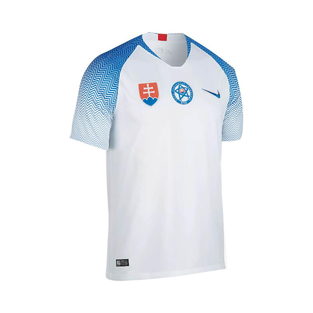 Nike 2018-2019 Slovakia Home Football Shirt Women s T Shirt In White ... 939259a0c82