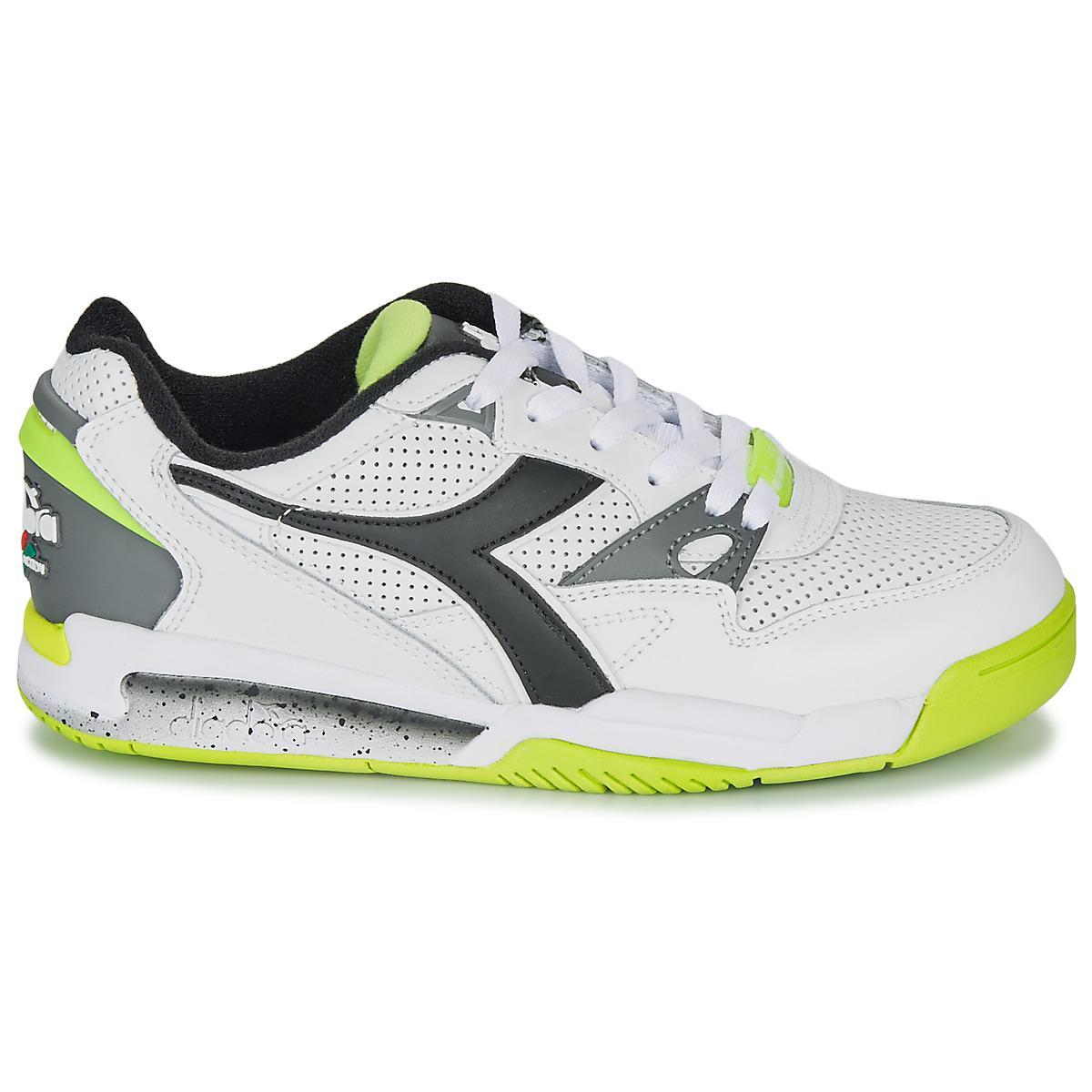 Diadora Leer Lage Sneakers Rebound Ace in het Wit voor heren