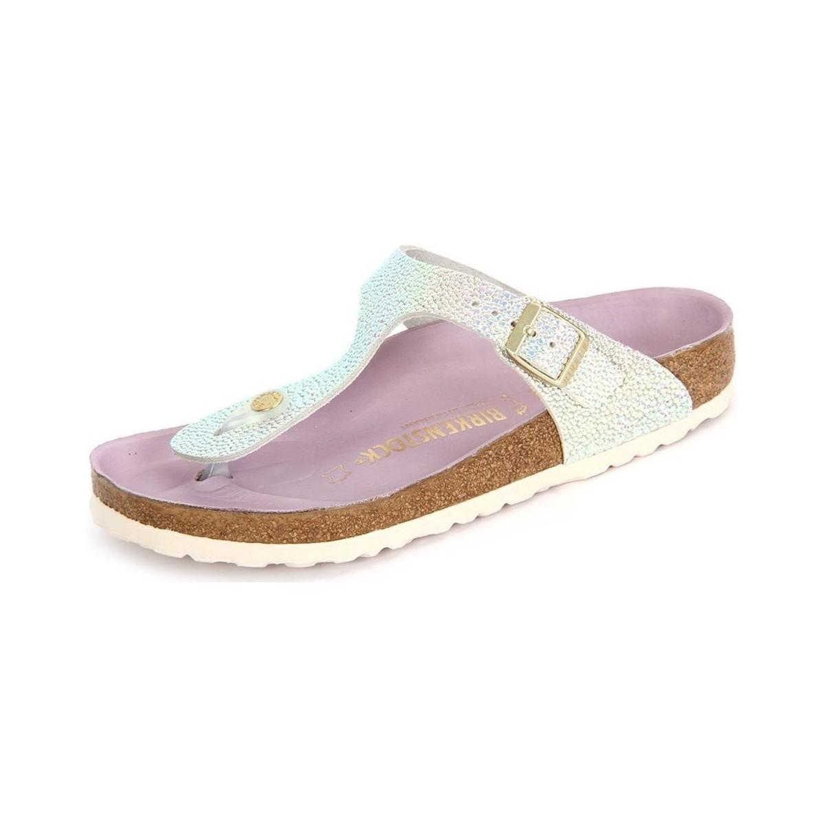 f61b5f83862ef3 Birkenstock Gizeh Silver Orchidee Ombre Pearls Women s Sandals In ...