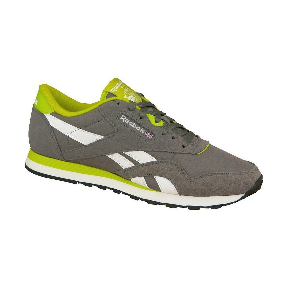 afbaecda265406 Reebok - Gray Classic Nylon Rs Men s Shoes (trainers) In Grey for Men -.  View fullscreen