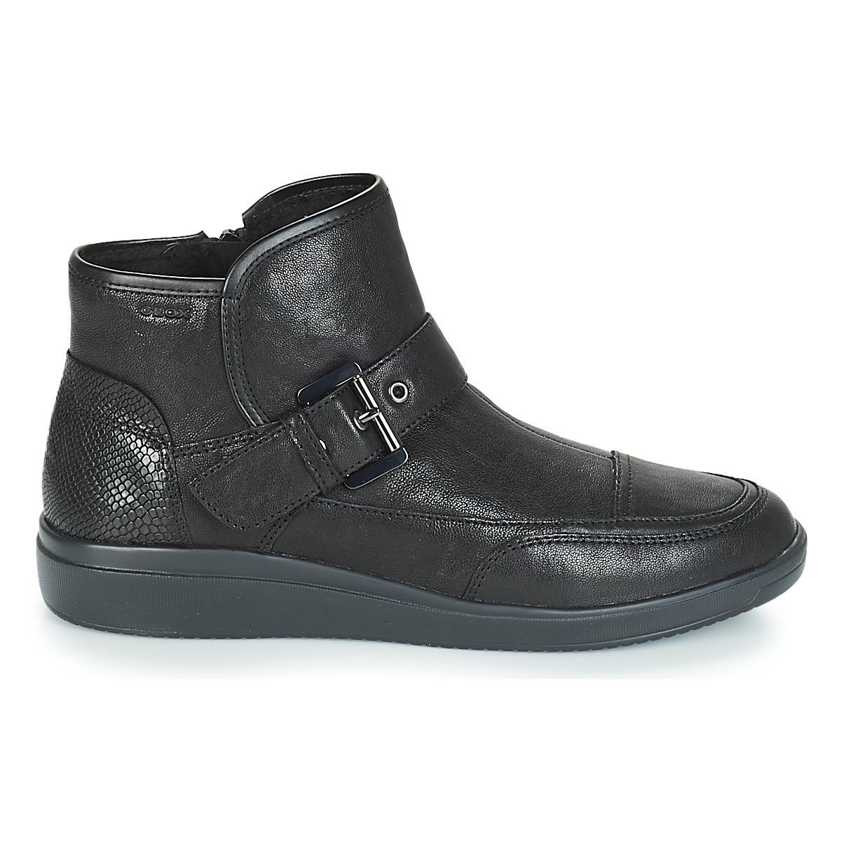 e272e82b800 Geox D Tahina Mid Boots in Black - Lyst