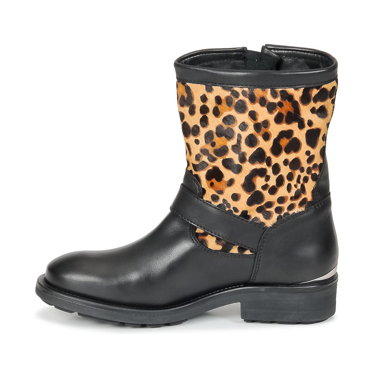 Guess Leather Lolla Women's Mid Boots In Brown