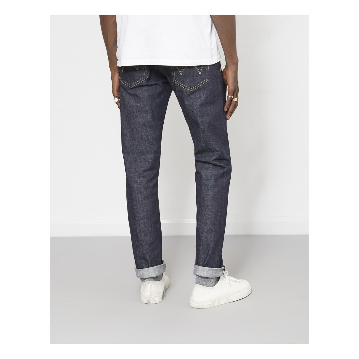 Edwin Ed-80 Slim Tapered 63 Rainbow Selvage Denim Jeans Unwashed Blue Men's Jeans In Blue for Men