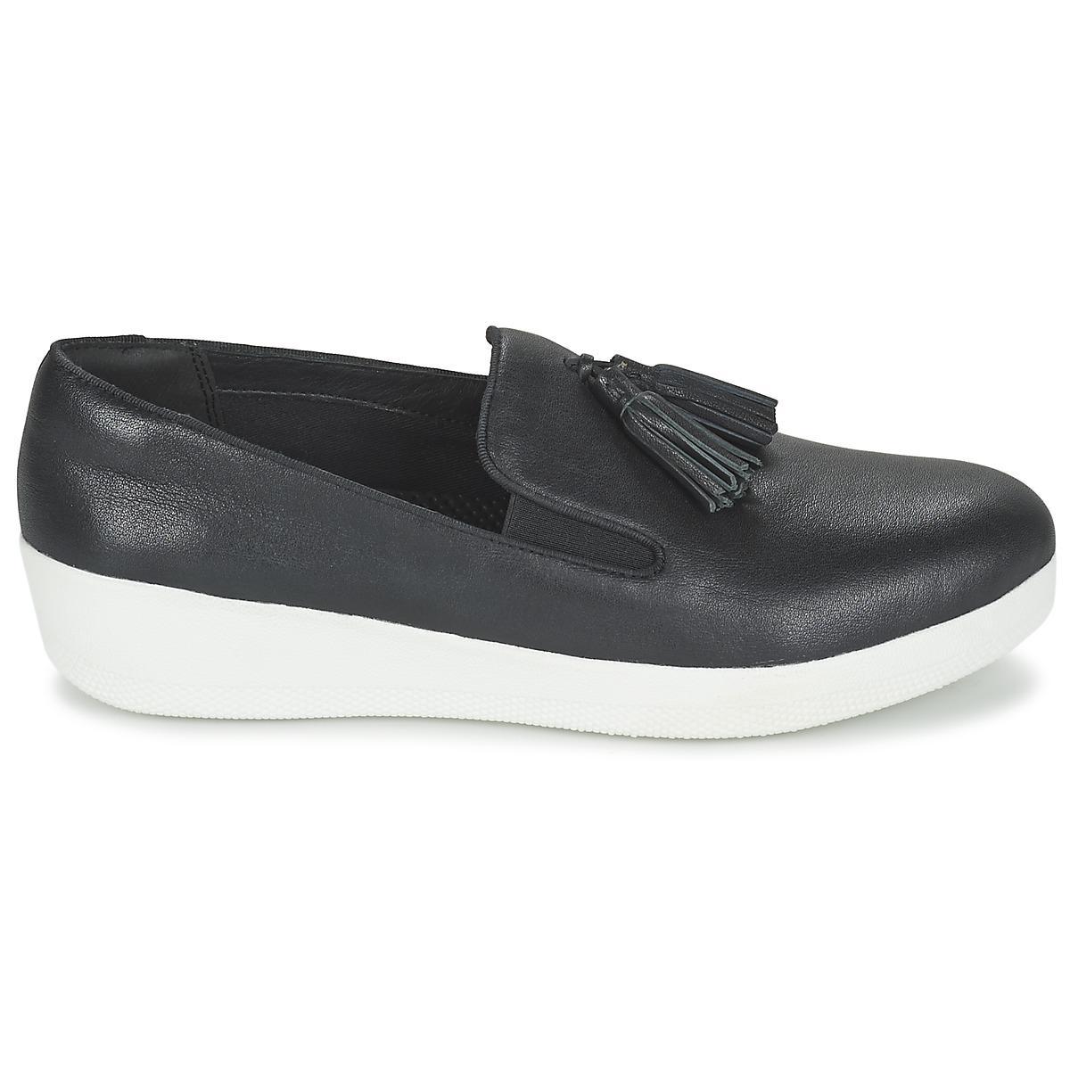 cb658a68a763a Fitflop - Tassel Superskate Women s Slip-ons (shoes) In Black - Lyst. View  fullscreen