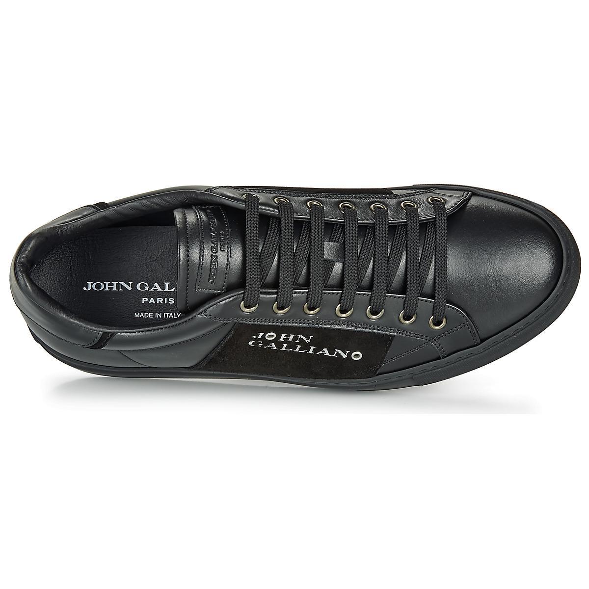 John Galliano Lage Sneakers 8548 in het Zwart voor heren