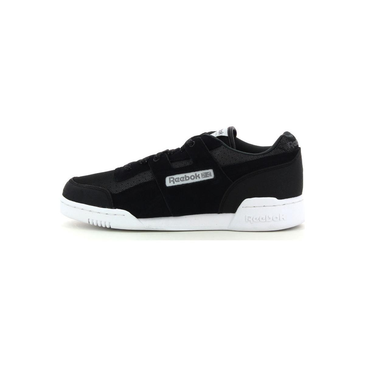 Reebok Lage Sneakers Workout Plus Reflect in het Zwart voor heren