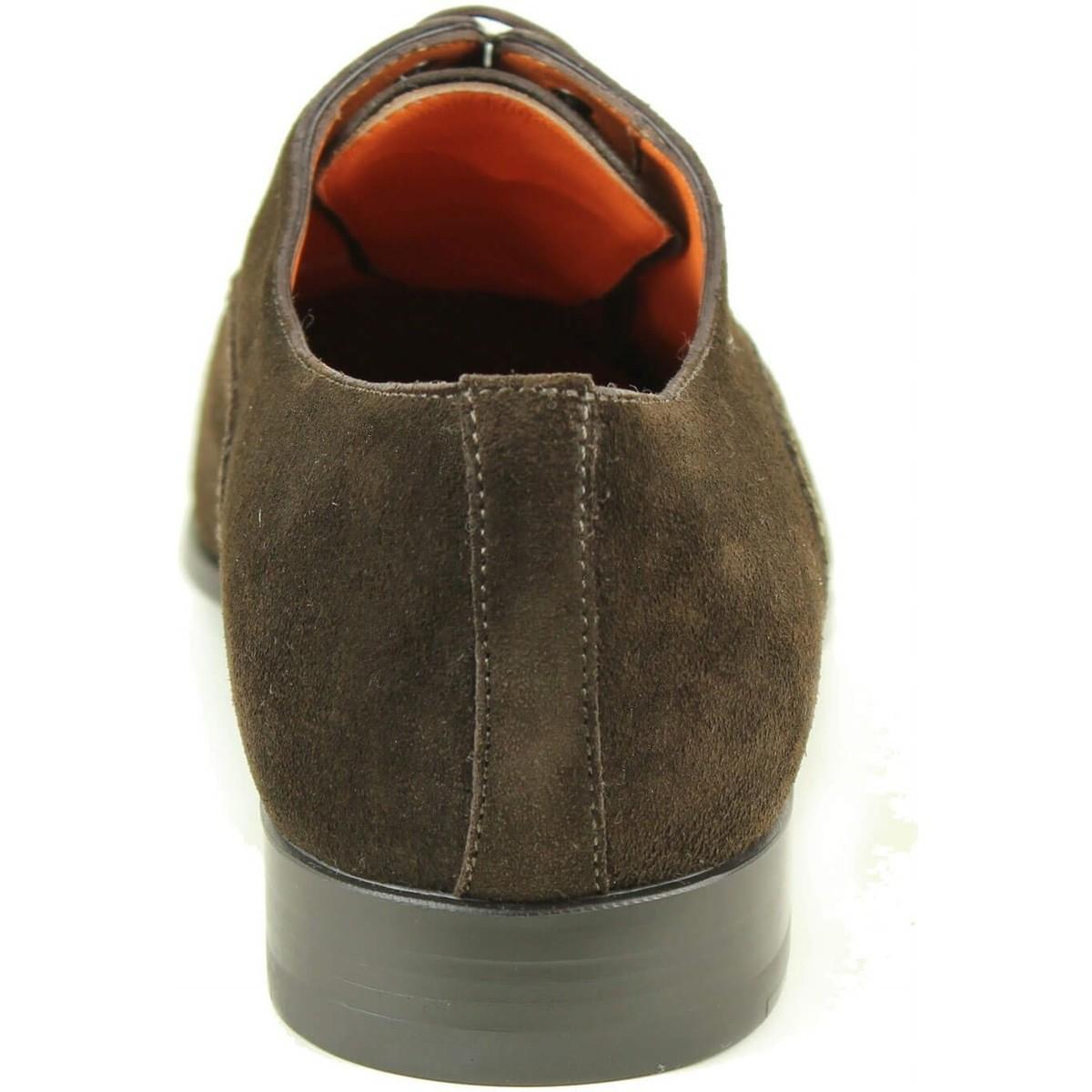 Richelieu marron Chaussures Santoni pour homme en coloris Marron