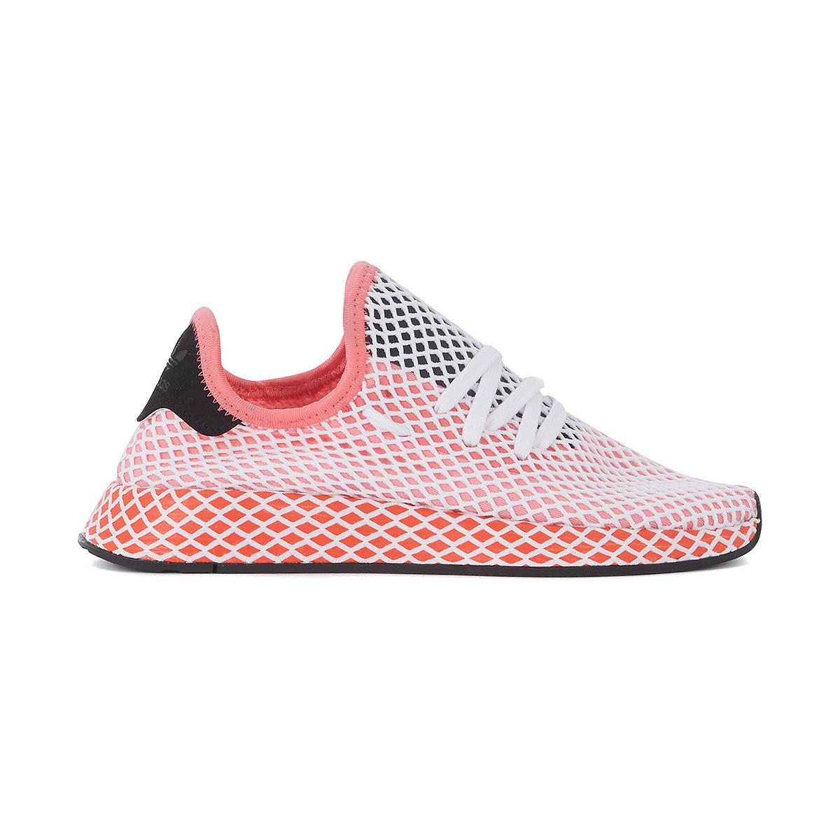 adidas. Deerupt Pink White And Red Mesh Trainer Women\u0027s Shoes ...
