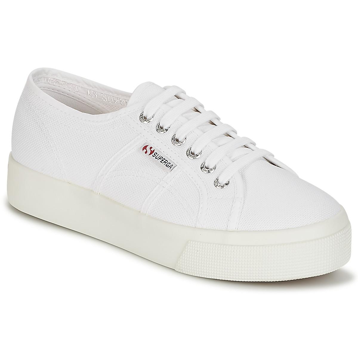 Superga Womens White 2790 Acotw Trainers Women's Shoes (trainers) In White - Save 32%