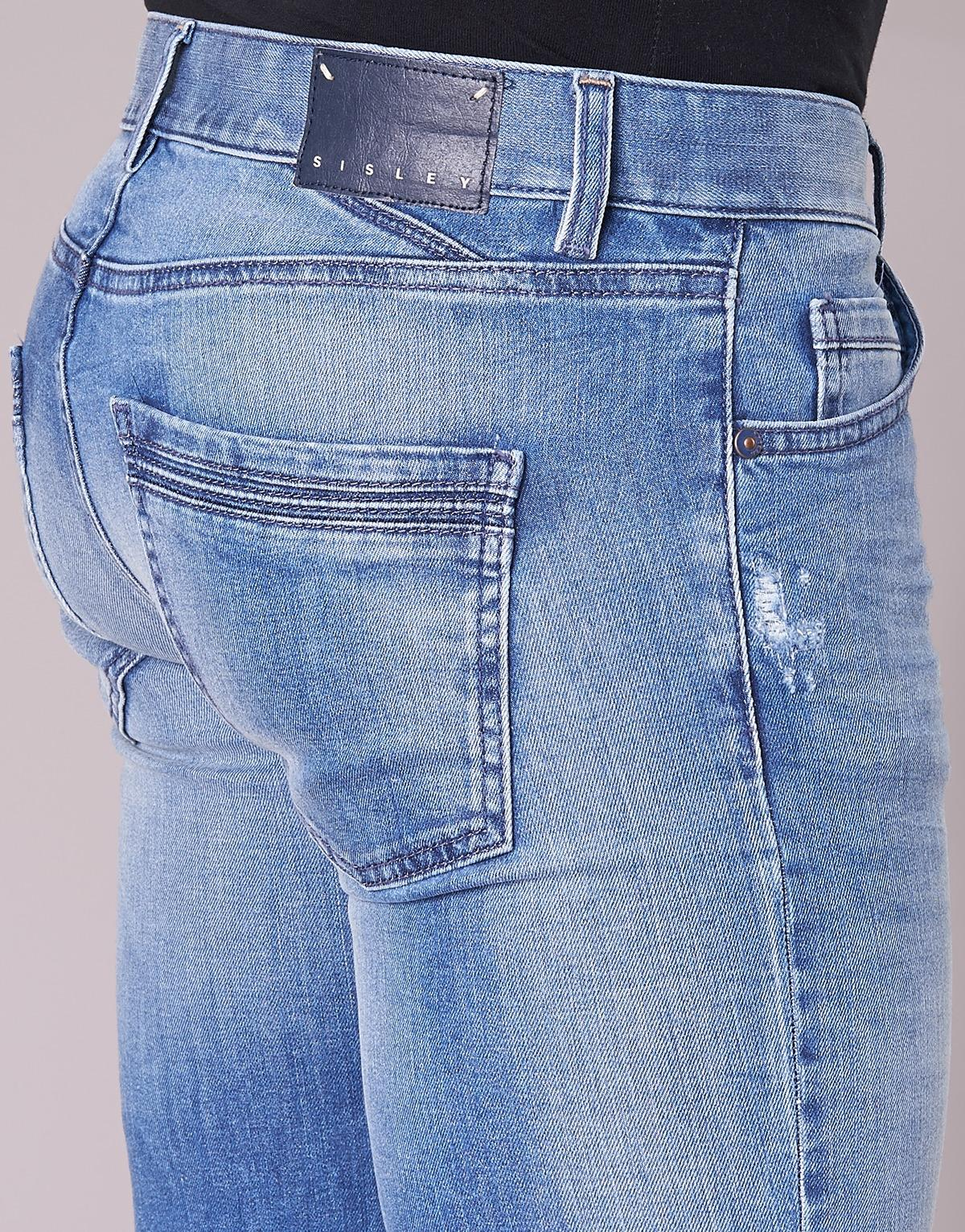 Sisley Denim Skinny Jeans Burludu in het Blauw voor heren