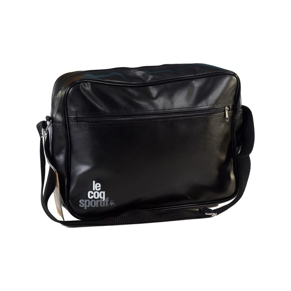 80de7b5043d Le Coq Sportif Ligne Logo Reporter Black Men's Bag In Black in Black ...
