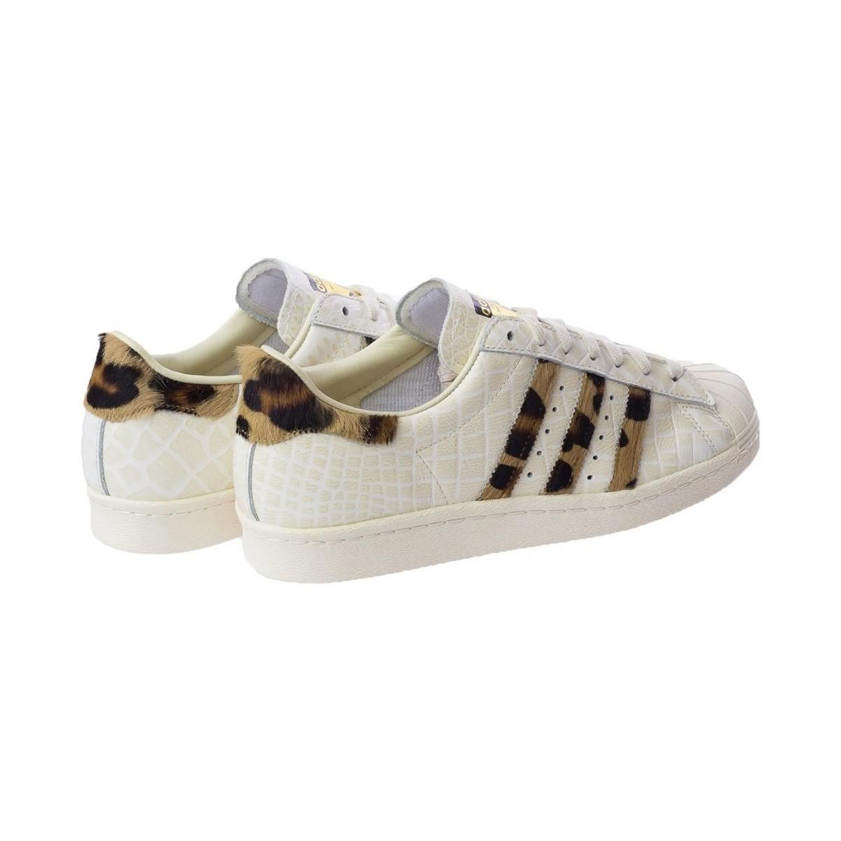 adidas Superstar 80s Animal Men's Shoes (trainers) In Beige in Natural for Men