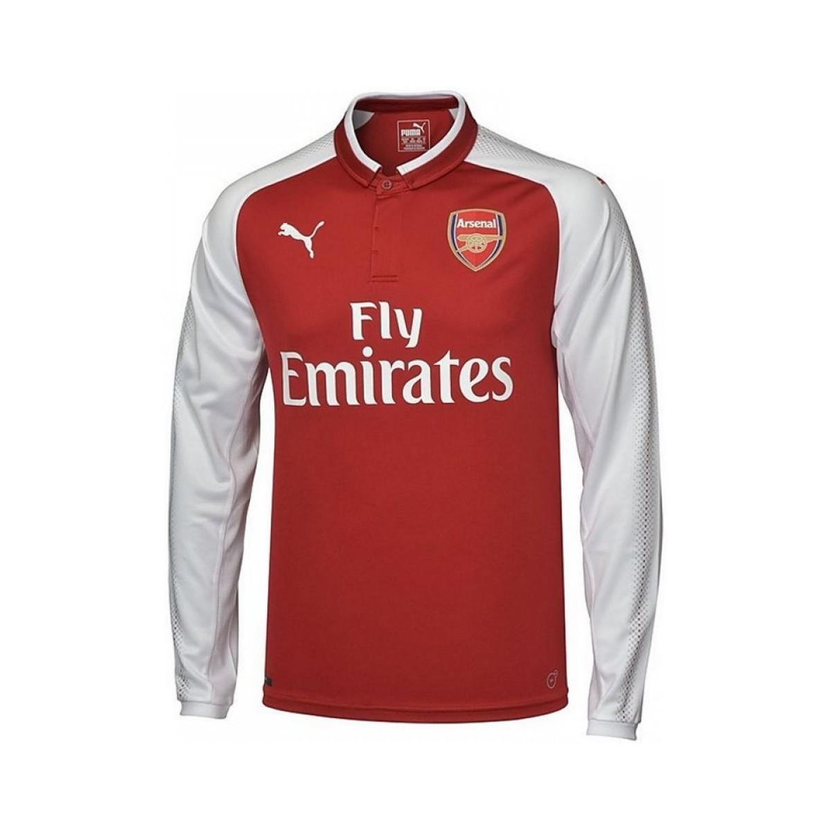8fc1f953a Puma 2017-18 Arsenal Home Long Sleeve Shirt (ozil 11) Women s Polo ...