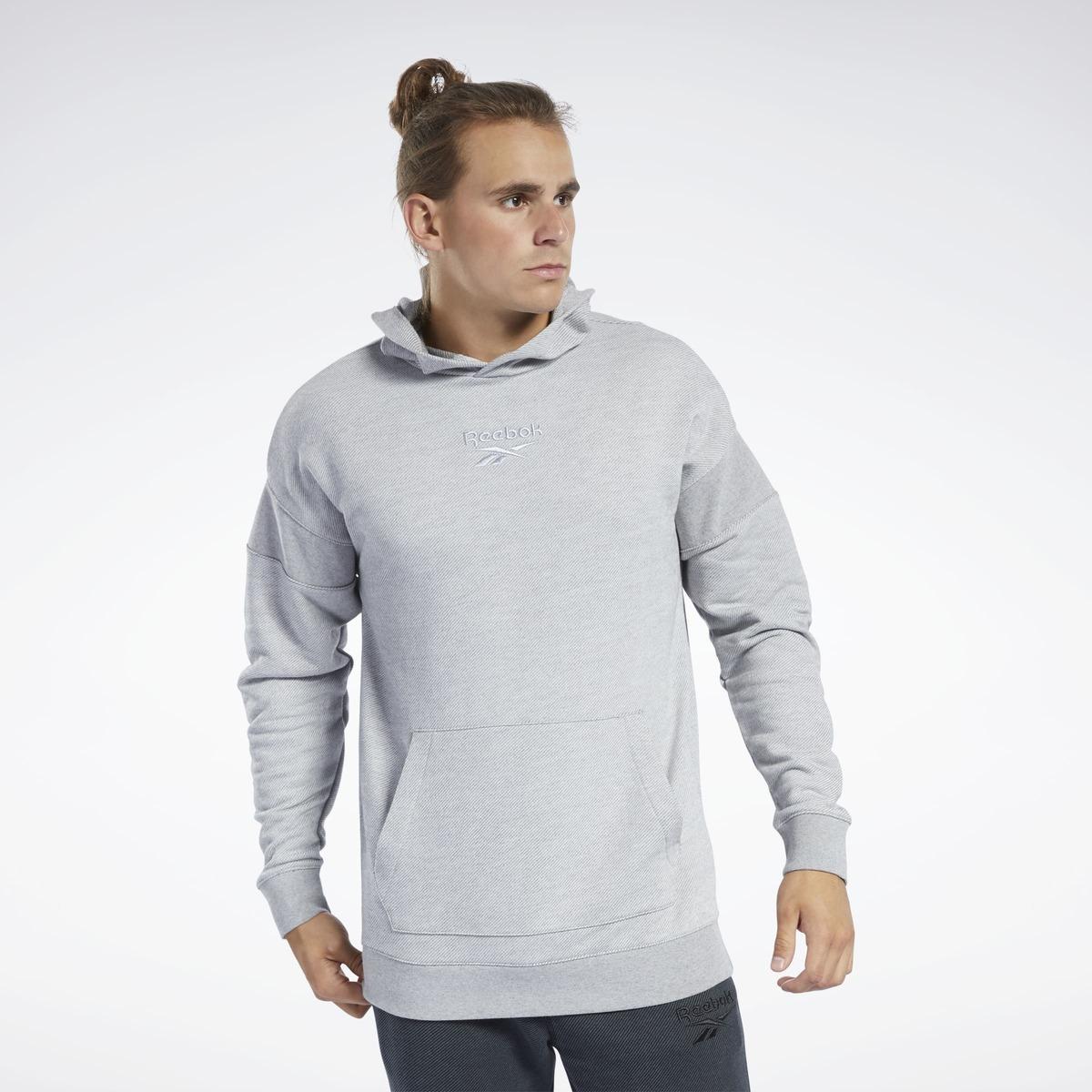 Reebok Trui Training Essentials Hoodie in het Grijs voor heren
