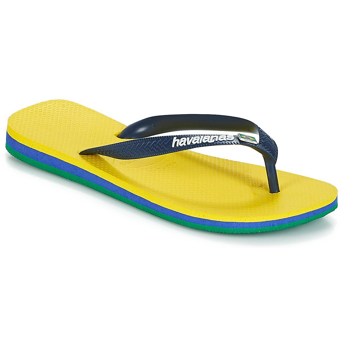 5850112e9bc7ab Havaianas Brasil Layers Men s Flip Flops   Sandals (shoes) In Yellow ...