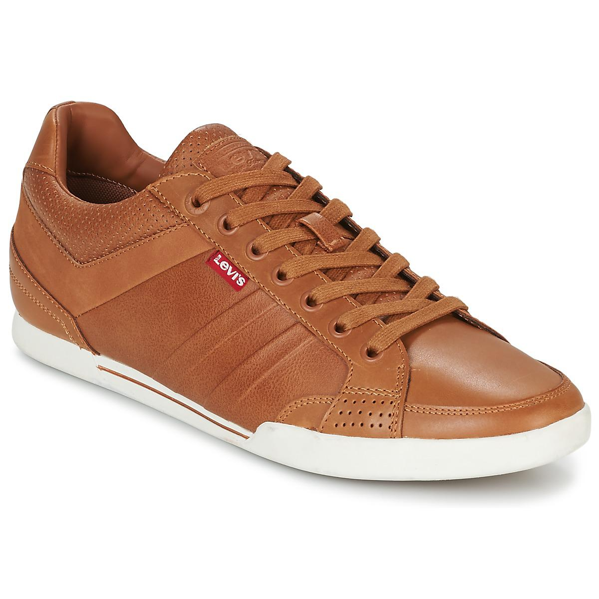 Mens Turlock Trainers, Brown Levi's