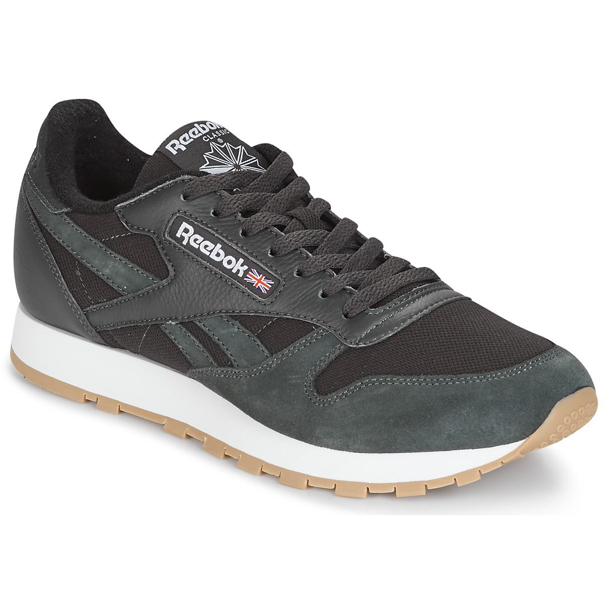 d5a6eed30fe8 Reebok - Classic Leather Essentiel Men s Shoes (trainers) In Black for Men  - Lyst. View fullscreen