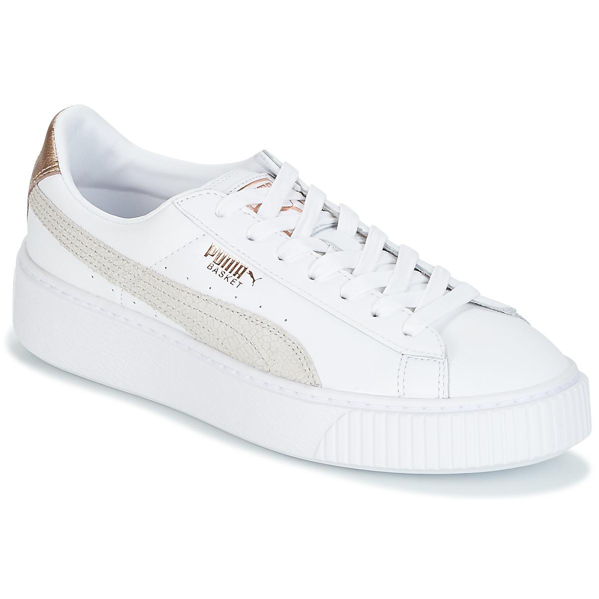 Basket Femmes Euphoria Platform Chaussures Blanc En FKTl1Jc