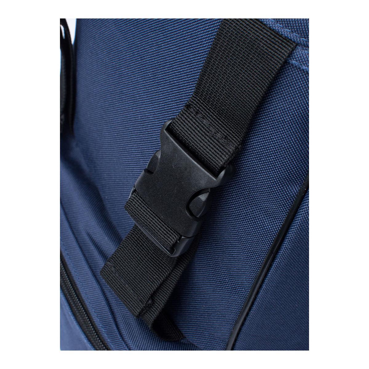 Hype Synthetic Men's Traveller Logo Backpack, Blue Men's Backpack In Blue for Men