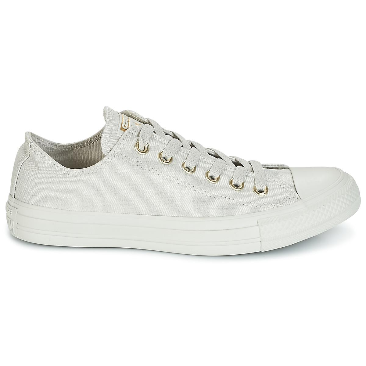 e7c315c54d8b83 Converse - Gray Chuck Taylor All Star Ox Mono Glam Canvas Color Shoes ( trainers). View fullscreen