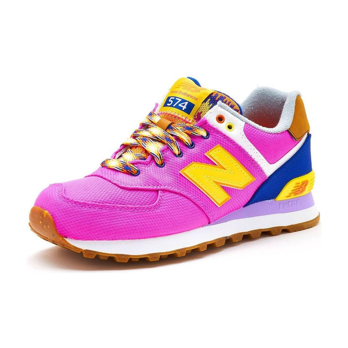 new balance classic 574 pink womens trainers