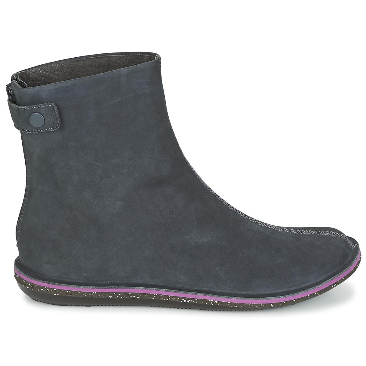 Camper Leather Beetle Women's Mid Boots In Grey in Grey