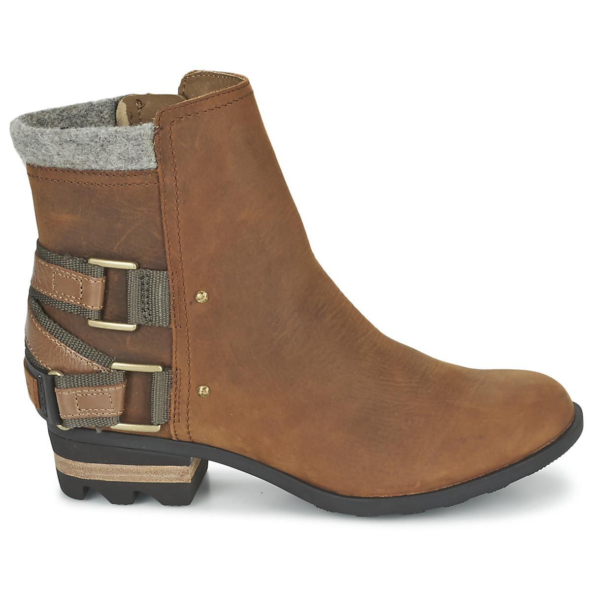 Sorel Leather Lolla Women's Mid Boots In Brown