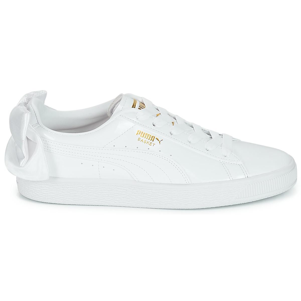 f0d27579567 PUMA Wn Suede Bow Patent.white Women s Shoes (trainers) In White in ...