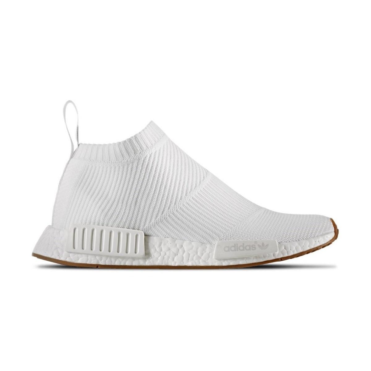 adidas nmd cs1 pk scarpe da uomo (high top formatori) in bianco in bianco.