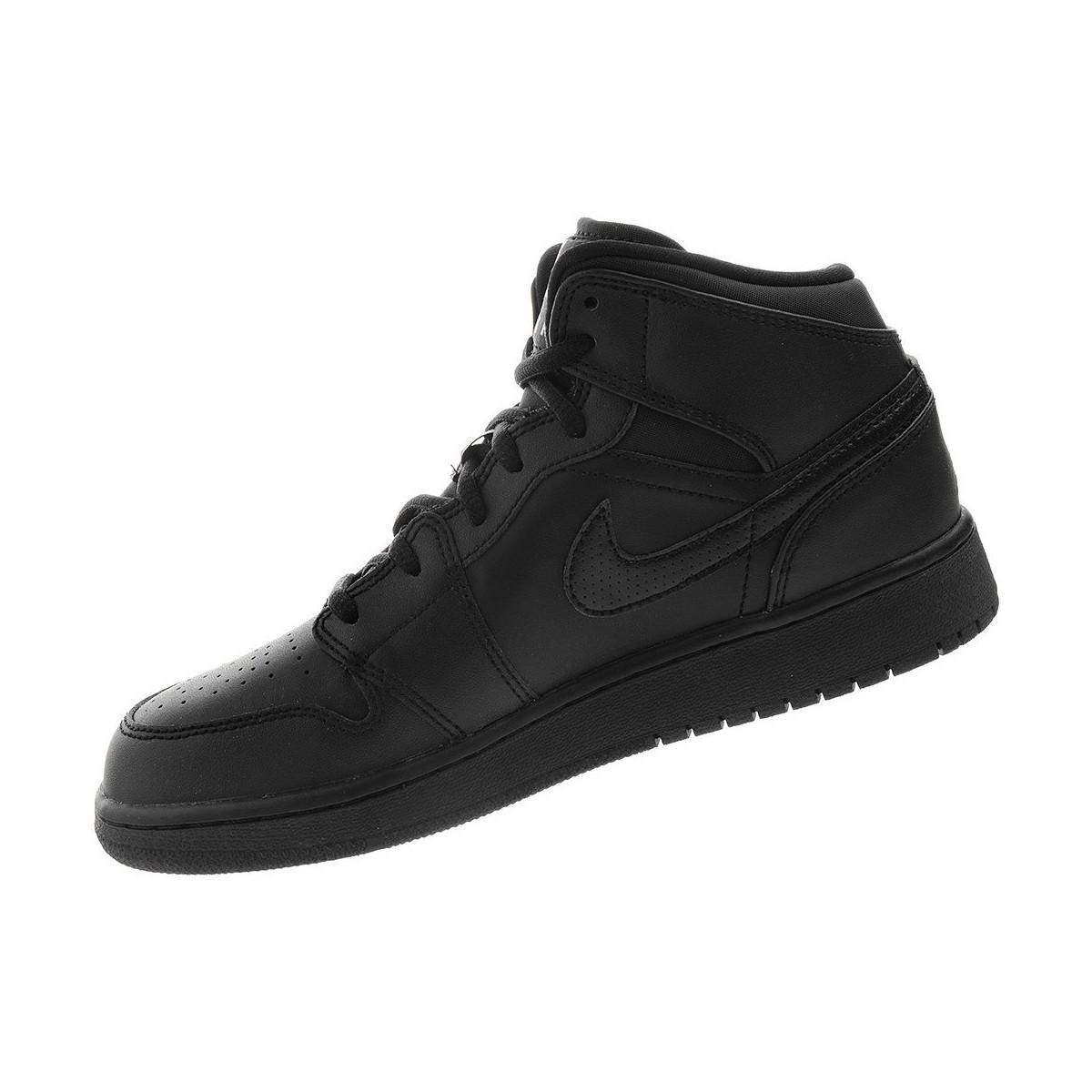 pretty nice 1c345 6084b Nike Air Jordan 1 Mid Bg Women's Shoes (high-top Trainers ...
