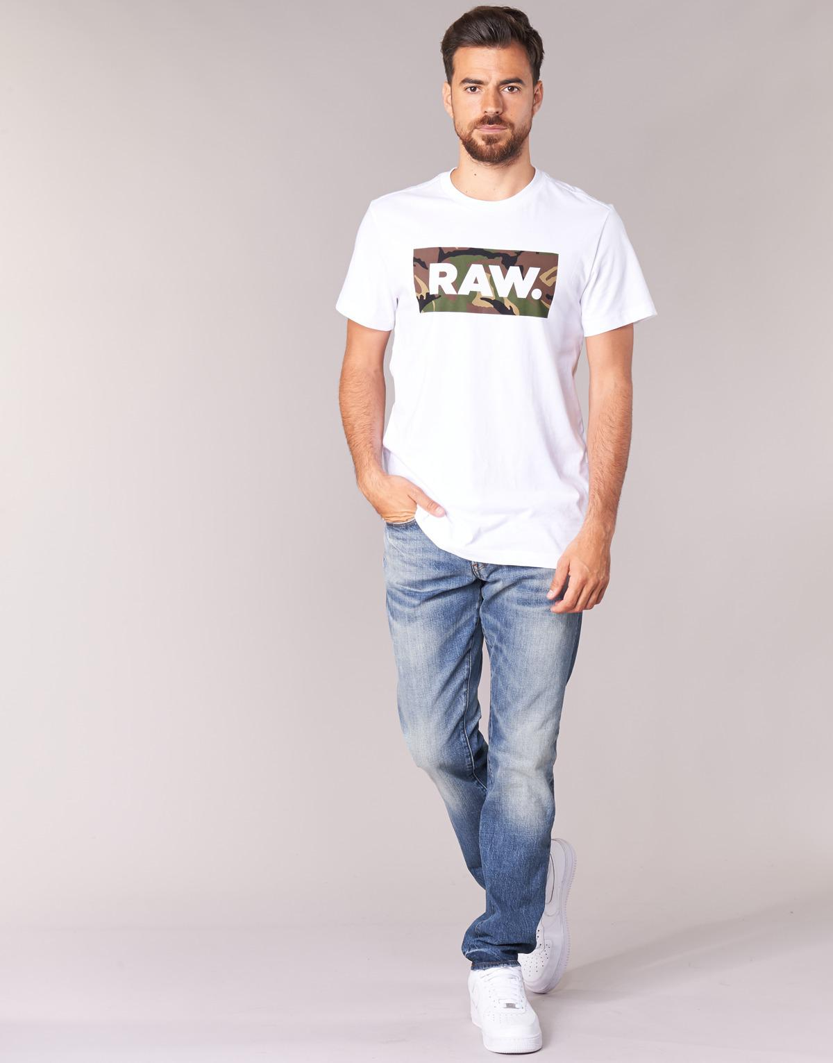 19e7c2e6529 G-Star RAW 3301 Tapered Jeans in Blue for Men - Lyst