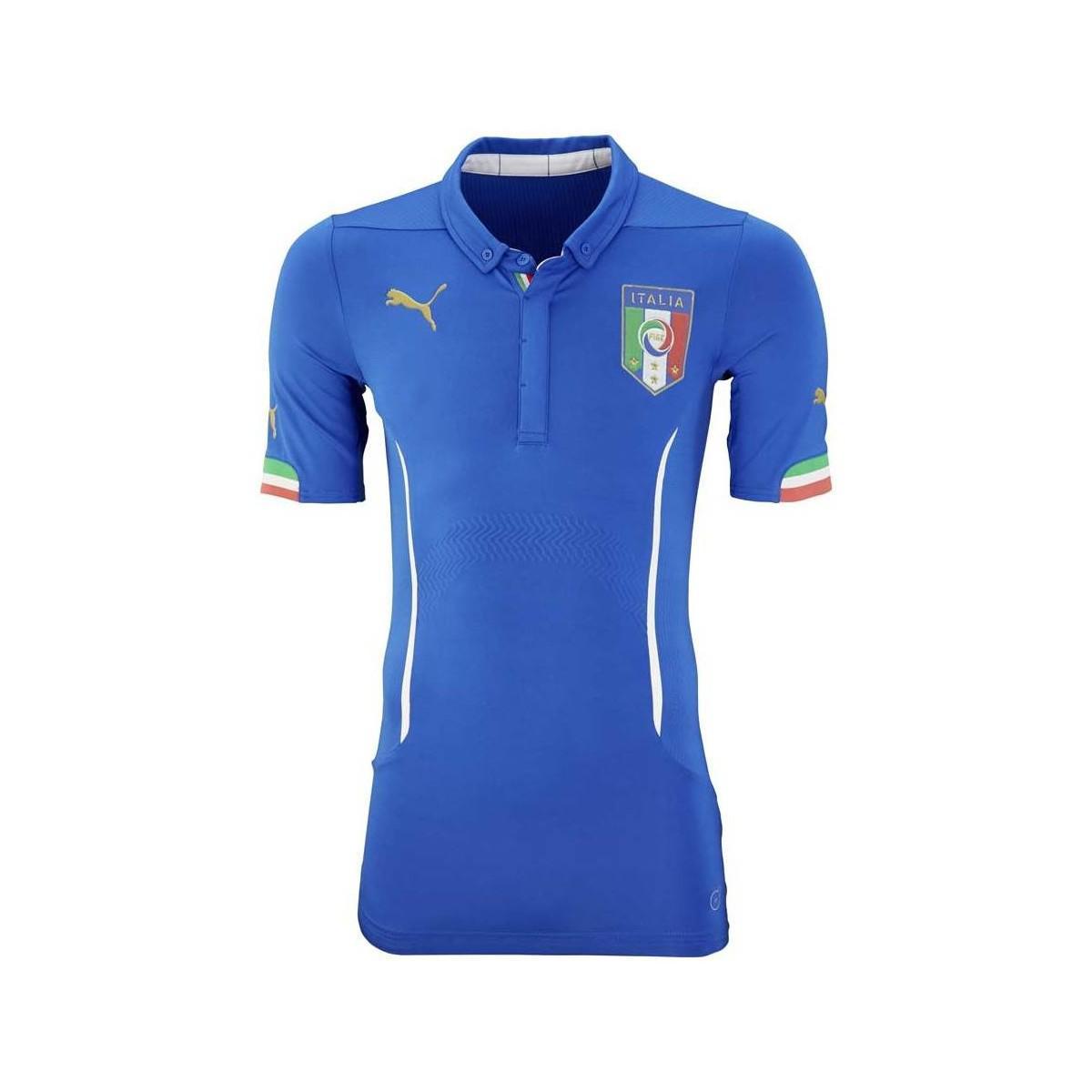 c718e7b8e5 Puma 2015-2016 Italy Authentic Actv Home Football Shirt Men s Polo ...