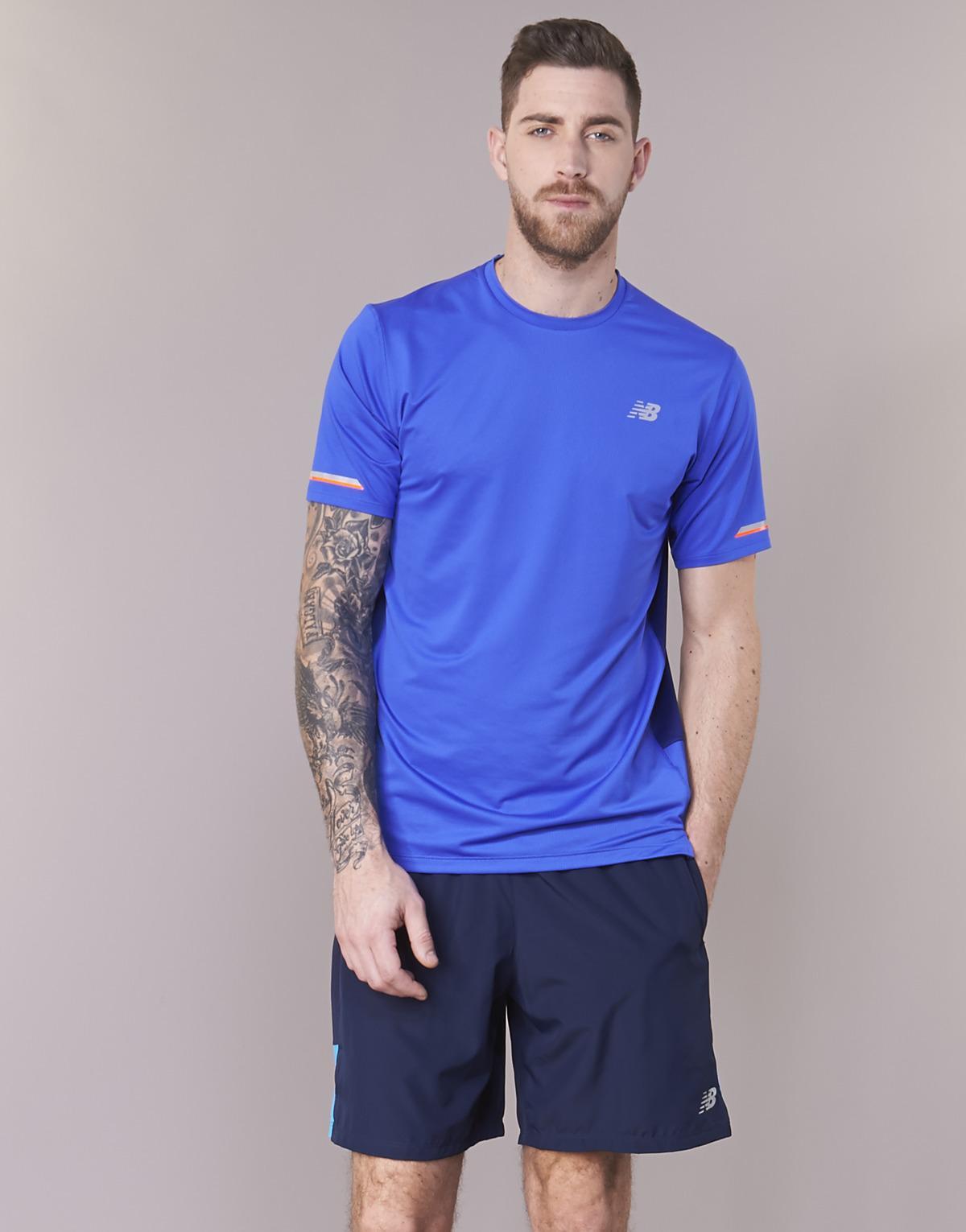 8470d17fcbf68 New Balance Nb Ice Tee Men's T Shirt In Blue in Blue for Men - Lyst