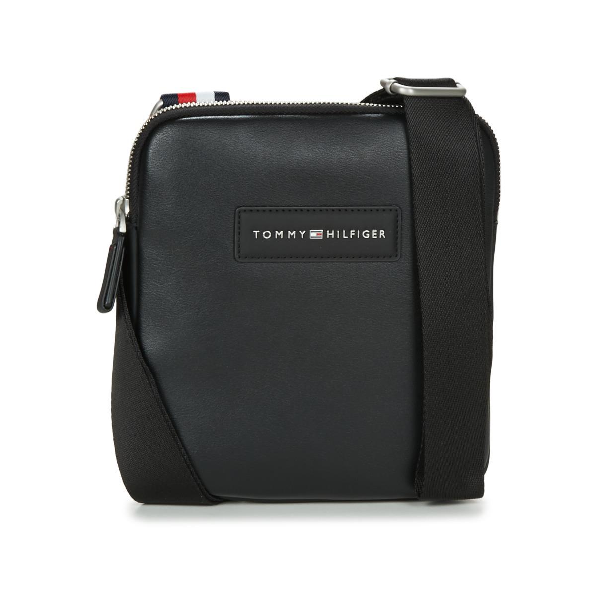 Tommy Hilfiger Th City Crossbody Men S Pouch In Black In Black For