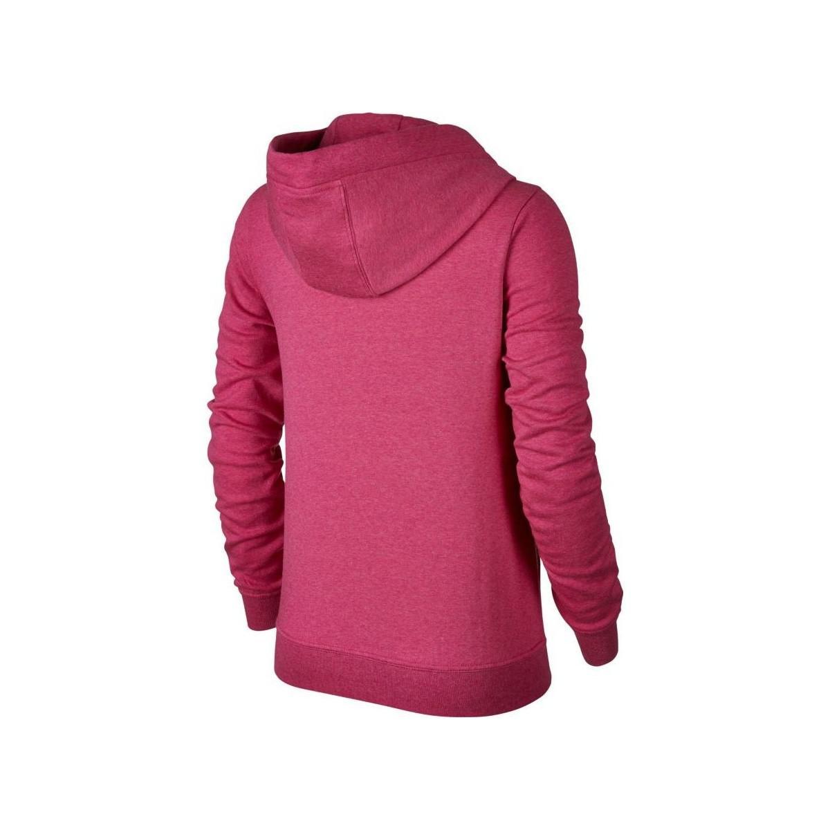 4df7a832aa8f Nike - Woman Sportswear Hoodie Women s Sweatshirt In Pink - Lyst. View  fullscreen