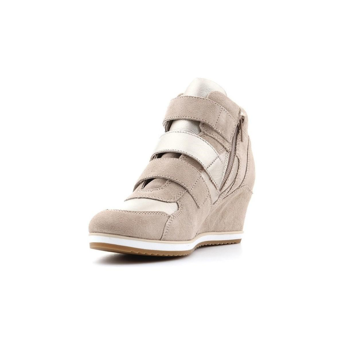 Geox D Illusion D Ss17 Women's Shoes (high-top Trainers) In Beige in Natural