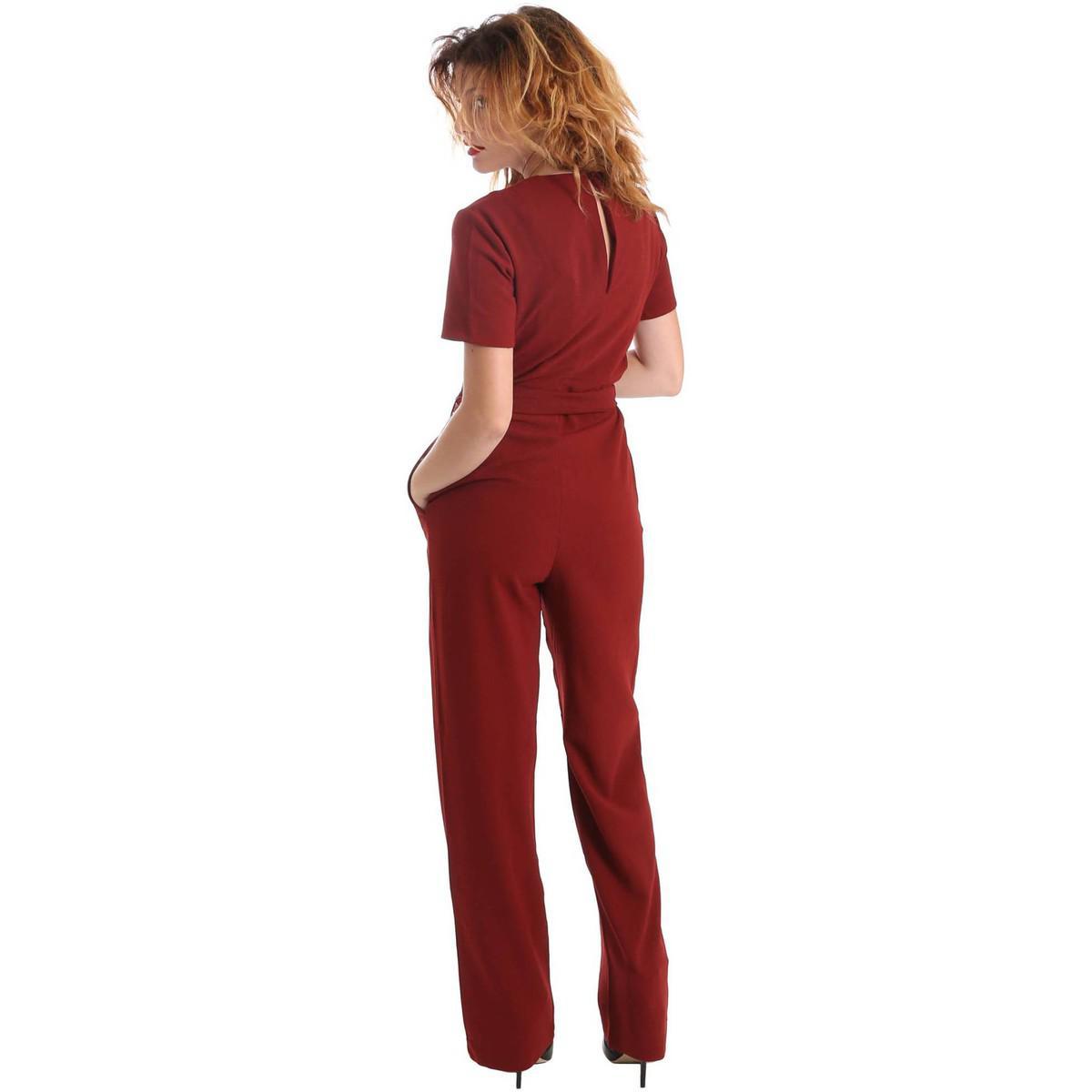 Pepe Jeans Denim Pl230142 Tuta Women Bordeaux Women's Jumpsuit In Red