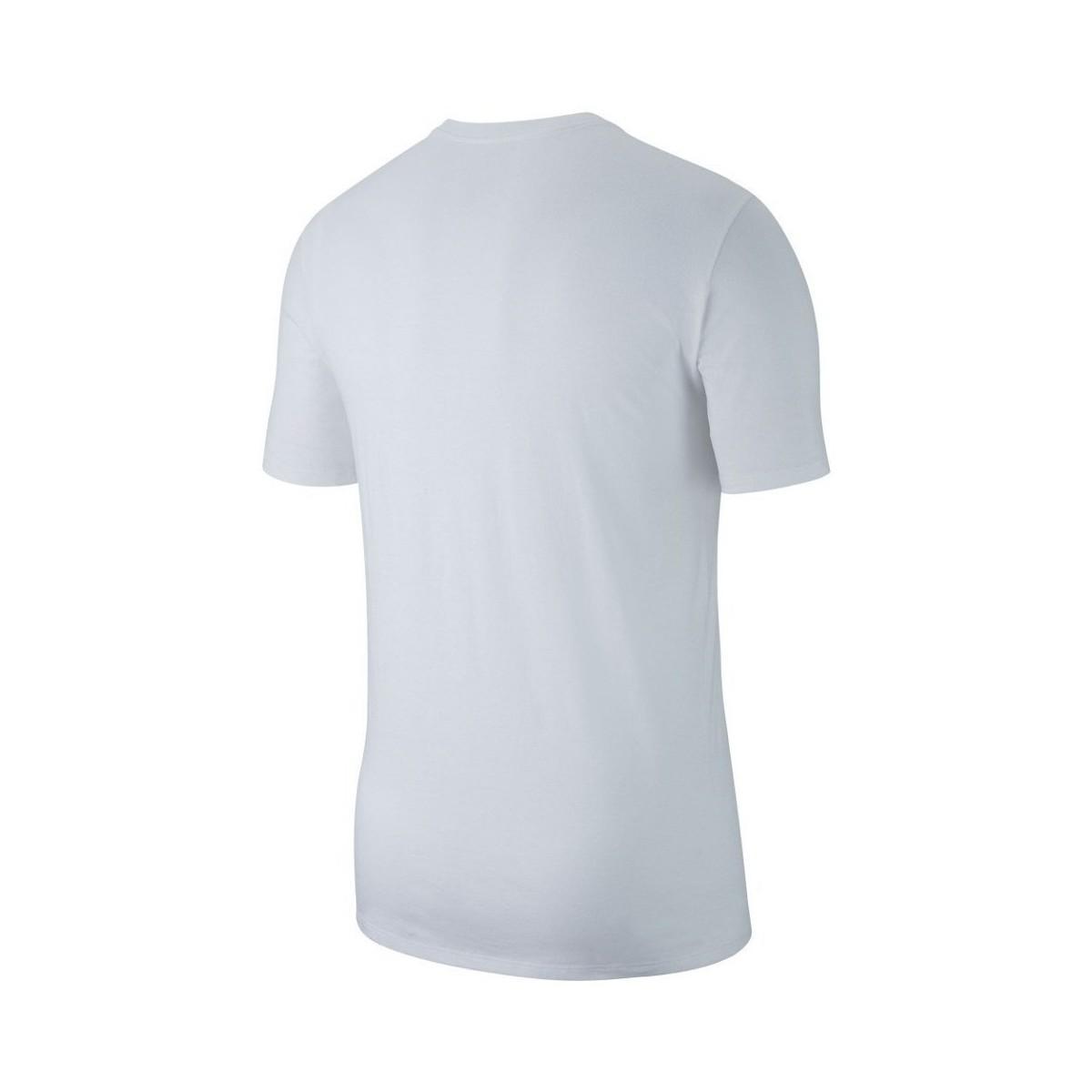 260203f130bcb6 Nike - Air Jordan Jumpman Embroidered Tee Men s T Shirt In White for Men -  Lyst. View fullscreen