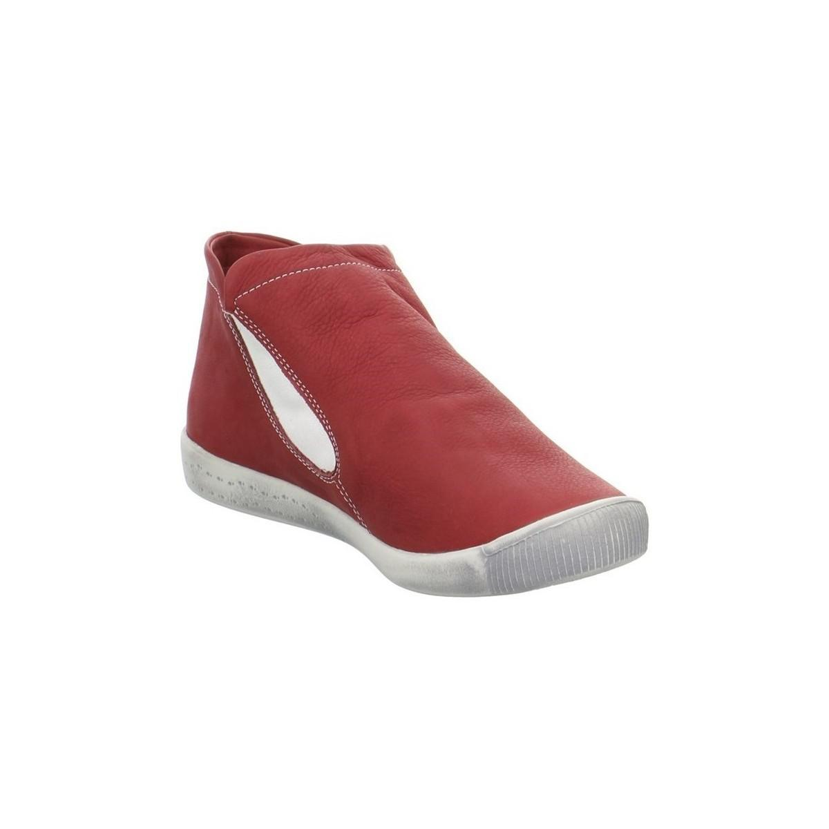 Softinos Inge Women's Shoes (high-top Trainers) In Red