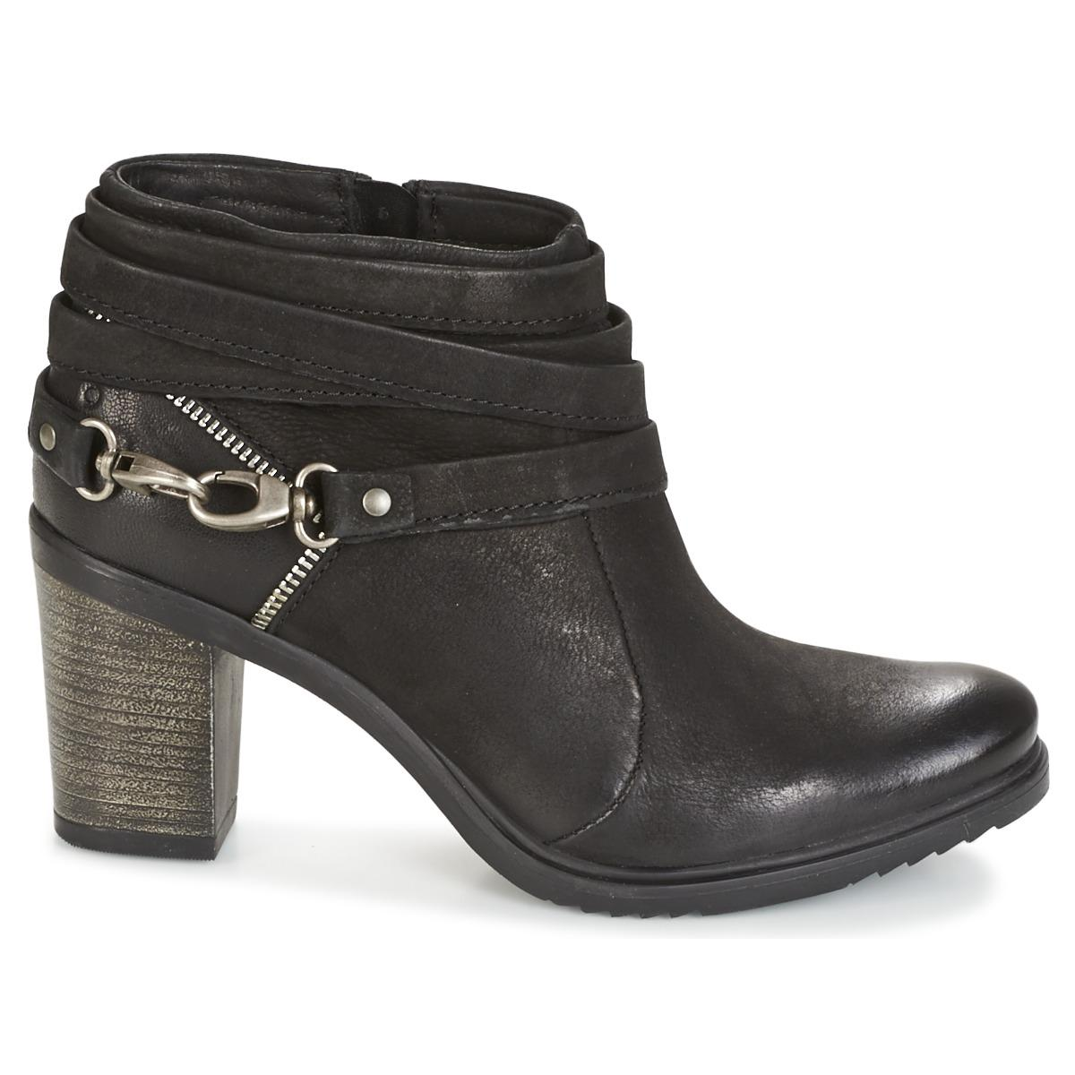 HANFINE Boots Cuir Dream in Green en coloris Noir